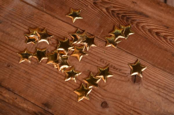 Stelle decorative dorato 3 cm