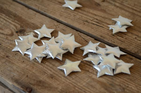Stelle decorative argento 3 cm